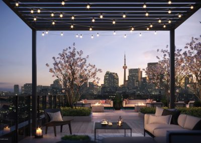 Image of the cozy rooftop terrace