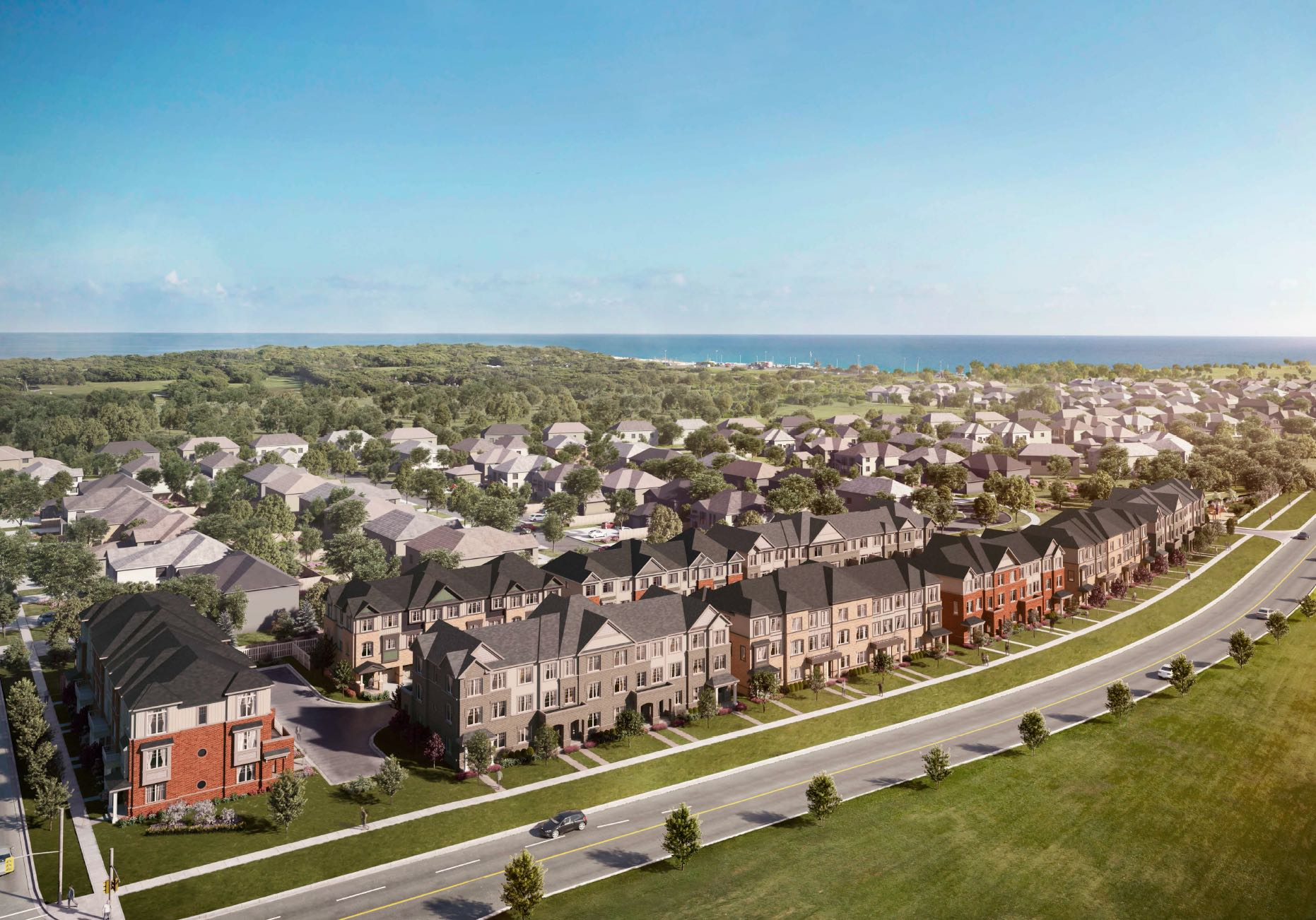 OH! Townhomes Aerial View